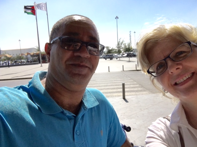 Hana and me at Amman airport